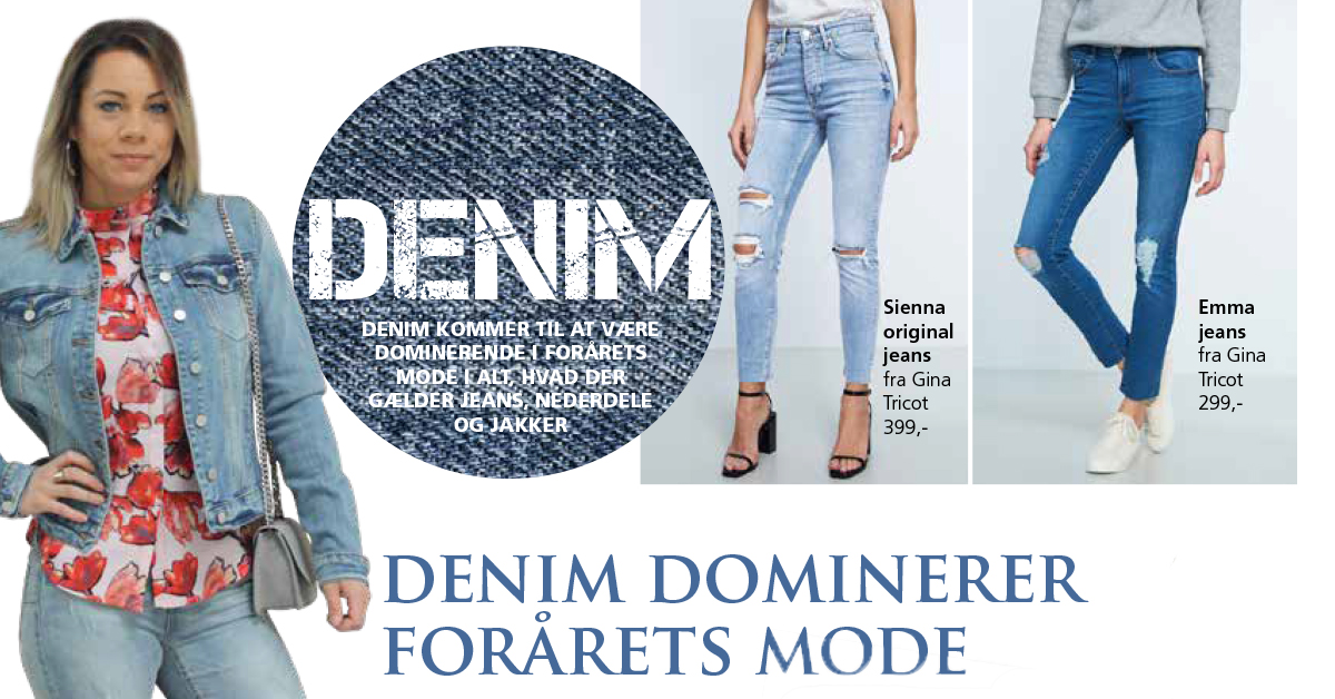 Denim dominerer forårets mode